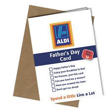 Greetings Card Aldi Value Comedy Rude Funny Humour Fathers Day Dad #190
