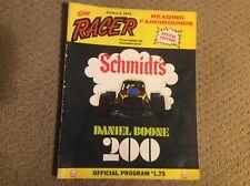 1975 READING FAIRGROUNDS THE RACER SCHMIDTS DANIEL BOONE 200 PROGRAM