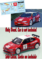 Decal 1:43 Bruno Thiry  CITROEN XSARA KIT CAR  Rally El Corte Ingles 2000