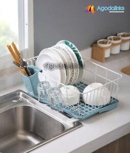 New Dish Rack Drainer Utensils Holder Side Drainer Drying Tray Stainless Steel