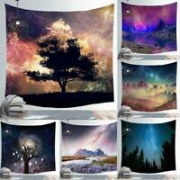 Galaxy & Starry Sky Hanging Wall Tapestry Home Decor Yoga Beach Towel Blanket