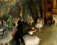 Edgar Degas Rehearsal Of The Ballet Onstage Canvas Print 16 x 20   #4057