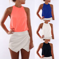 Women Sexy Sleeveless Blouse Tops Casual Clothes Tank Tops T-Shirt Vest Blouses
