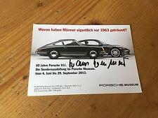 Hans Herrmann Autogrammkarte Porsche Solitude Revival 2013