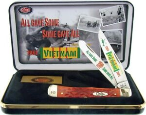Case xx Trapper Knife Vietnam War Jigged Red Bone Limited Edition CAT-VIET