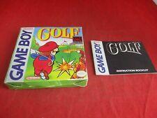 Golf Nintendo Game Boy Empty Box & Manual ONLY (no game)
