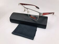🔹New PRADA SPORT VPS 57E QE7-1O1 Grey & Matte Burgundy Eyeglasses 53mm w/Case