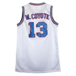 Wile E Coyote #13 Space Jam Tune Squad Basketball Jersey ADULT S M L XL 2XL