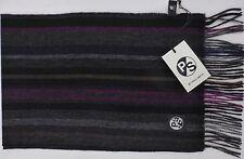 Paul Smith Scarf 100% Wool College Stripe Pink / Grey / Blue