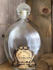 """RARE Vintage Guerlain EDT Sous le Vent Dolphin Bottle Paper Label Paris 6.5"""""""