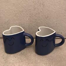 Flying Tiger 2 tazas de café espresso en forma de corazón Blue Tiger Dinamarca