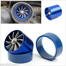 Blue 55mm Vehicles Single Fan Fuel Gas Saver Supercharger Turbine Turbo Charger