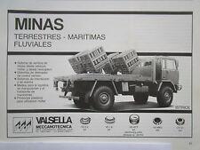 5/85 PUB VALSELLA MECCANOTECNICA ISTRICE MINAS CAMION IVECO FIAT 4X4 SPANISH AD