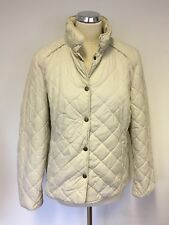 JAEGER IVORY QUILTED JACKET SIZE 16