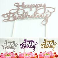 Shining Happy Birthday Party Supplies DIY Decoration Cake Topper Decor