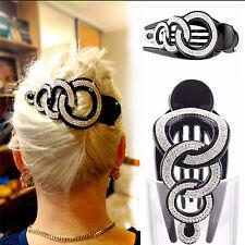 Elegant Full Crystal Women Hair Clip Hairpin Rhinestone Clamp Claw HeadwearMDAU
