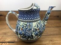 Unikat Pottery Pitcher, #1983 Hand painted Poland By F. Nakonieczna