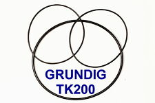 SET BELTS GRUNDIG TK 200 REEL TO REEL EXTRA STRONG NEW FACTORY FRESH TK200