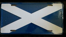 FLAG OF SCOTLAND- EMBOSSED METAL LICENSE PLATE/SIGN- NEW