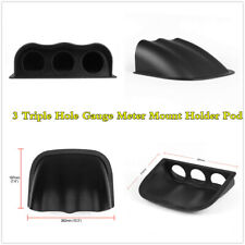 3 Triple Hole Dash Gauge Meter Pod Mount Holder For Car Dashboard Panel 52mm