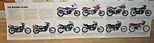 1984 Honda Motorcycle Poster/Sales Brochure- ALL STREET MODELS