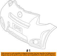 Scion TOYOTA OEM 12-15 iQ-Bumper Cover 5211974901