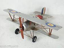 Blechflugzeug Modellflugzeug Kampfflugzeug Doppeldecker Flugzeug Eisen Antikstil