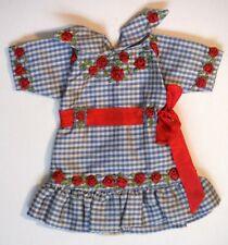 Vintage Boneka? Ornate Doll Dress with Ribbon Roses P427