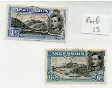 2 Good Cat Value Ascension Island George issues both perf 13