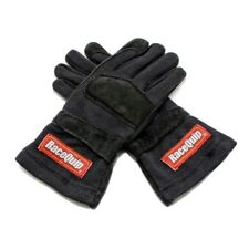 RaceQuip 355006 X-Large Double Layer Black Auto Racing Driving Gloves Nomex SFI