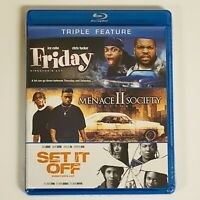 FRIDAY / MENACE II SOCIETY / SET IT OFF - DIRECTORS CUT - TRIPLE FEATURE - NEW