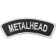 METALHEAD - Aufnäher Patch - Banner gestickt 12x4cm
