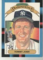 FREE SHIPPING-MINT-1988 Donruss #17 Diamond Kings Tommy John New York Yankees