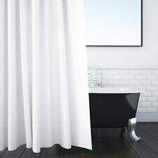 """Shower Curtain 72""""x72"""" Anti-bacterial  Mildew Resistant Liner with 12 Rings UK"""