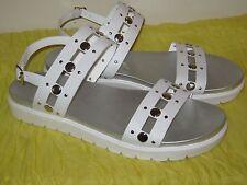Rock & Republic Chunky Studded White Sandals Womans Size 10M NIB #SH10