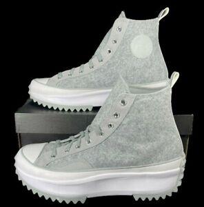 Converse Run Star Hike Shoe Felt Grey 169438C High Top Sneaker 12 Men