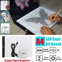 LED Artist Tattoo Stencil Board Light Box Tracing Drawing Board Pad A4 mirco-usb