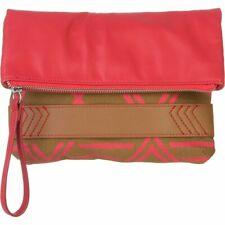 Nixon Tribu Clutch Brown Cherry Zipper Closure Purse Handbag Brand New