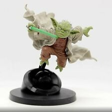 Jedi Master Yoda Fighting With Lightsaber Action Figure Star Wars