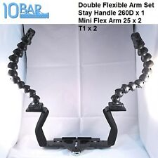 10 Bar Compact Camera Double Flexible Arm Set Underwater Photography i-Das Arm