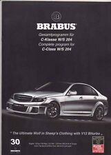 2010 BRABUS BITURBO V12 based MERCEDES BENZ C-CLASS W/S204 Malaysian Brochure