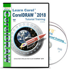 New! Corel Draw CorelDraw 2018 Tutorial Training 200 videos 13 hrs on 2 Dvds