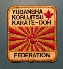 Yudansha Kobumjitsue Karate-Doh Federation Martial Arts Karate Gi Patch 656