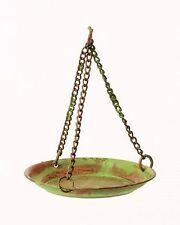 Miniature Fairy Garden Green/Brown Metal Hanging Bird Bath - Buy 3 Save $5