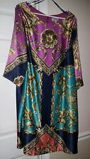 NWT NEW Womens Avenue Dress Plus size 22 / 24 3X silky shift Arabian theme