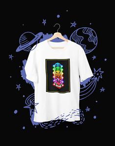 Geometry Dash Faces Gaming Fans T-shirt Girls Boys Tee  Free age 5-15