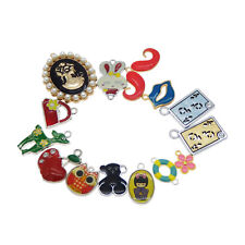 10pcs/Lot Multi-Styles Alloy Colorful Enamel Pendants Charms for Jewelry Making