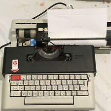 Vintage Olivetti Electric Typewriter Lettera 36 With Case And Papers Working