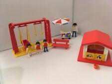 1986 Playmobil PLAYGROUND Lot 3552 Swings Playhouse & Ice Cream Cart