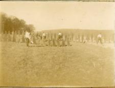 France, Militaires, Entraînement  ca.1897 vintage citrate print Vintage citrate